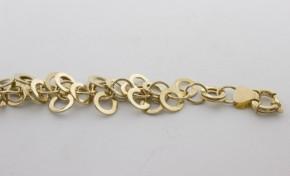 Златна гривна от  жълто злато GR0030 - дължина 22 см., ширина 18 мм.