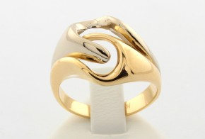 Дамски пръстен от бяло и жълто злато  DD0021