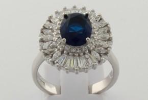 Дамски сребърен пръстен с циркони SD0068