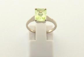 Годежен пръстен от бяло  злато с берил D4017