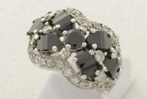 Дамски сребърен пръстен с циркони SD0115