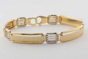 Златна гривна от бяло и жълто златo GR0140