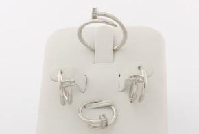Дамски сребърен комплект с циркони SKT0015