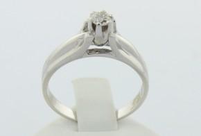 Годежен пръстен от бяло злато с диамант D1075