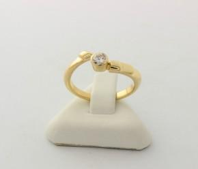 Годежен пръстен от жълто злато с циркони - 3,07 грама ,размер 52