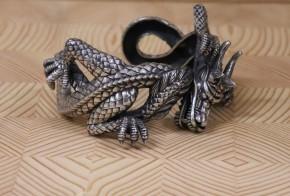 Сребърна гривна дракон  SS0012 - 1