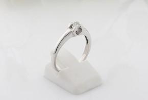 Годежен пръстен от бяло злато с диамант D2051