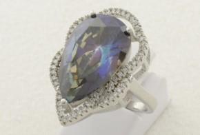 Дамски сребърен пръстен с циркони SD0081