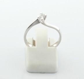 Годежен пръстен от бяло злато с диамант YZ82879
