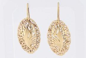 Златни обеци от жълто злато OB0159