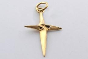 Златен кръст от  жълто злато VK0049