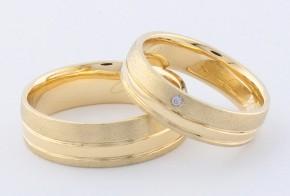 Брачни халки от жълто злато BH0302