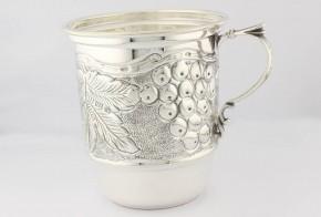 Сребърна чаша 925 проба с възможност за гравиране на име CS0024