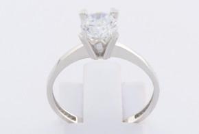 Годежен пръстен от бяло злато с циркон GD0146