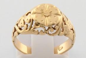 Дамски пръстен от жълто злато DD0138