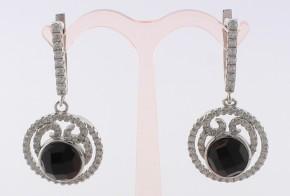 Сребърни обеци с циркони SO0013