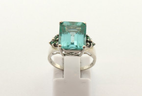 Дамски сребърен пръстен  с циркони SD0180