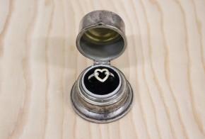 Сребърна кутия за пръстен SS0041