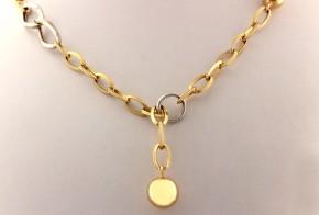 Златен синджир от бяло и жълто злато C0148