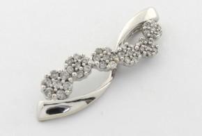 Висулка от бяло  злато с диаманти  VE850