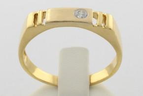 Мъжки пръстен от жълто злато MD0042