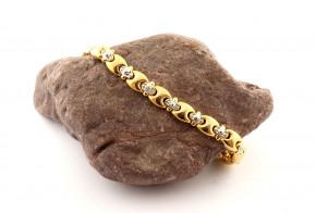 Позлатена сребърна гривна с диаманти SGR0122