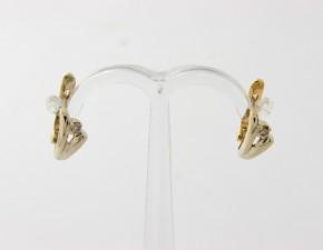 Обеци от бяло злато с диаманти О270