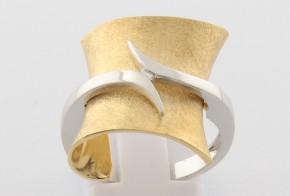 Дамски пръстен от бяло и жълто злато DD0121