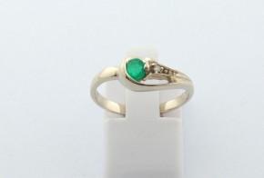 Годежен пръстен от бяло  злато с диамант D3100