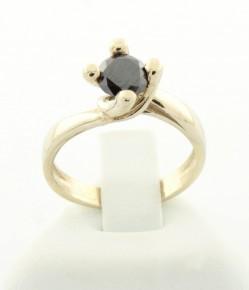 Годежен пръстен с черен диамант D249