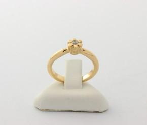 Годежен пръстен от жълто злато с циркон- 3,47  грама ,размер 50