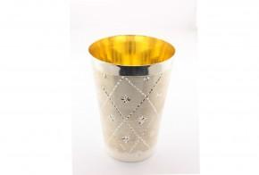 Сребърна чаша  с позлата CH0004