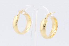 Златни обеци халки от жълто злато OB0136