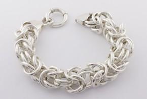 Сребърна гривна SGR0037