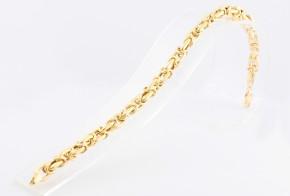 Златна гривна от жълто злато (кралска плетка) GR0114