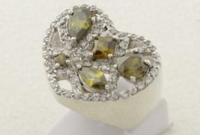 Дамски сребърен пръстен с циркони SD0091