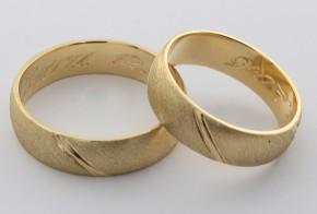 Брачни халки от жълто злато BH0003