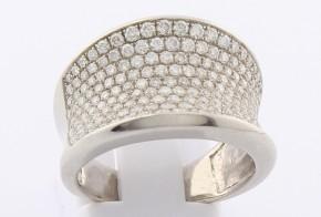 Дамски пръстен от бяло злато с диаманти D2042