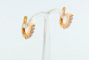Златни обеци от розово злато с циркони OBN0001