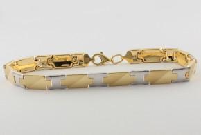 Златна гривна от бяло и жълто златo GR0145