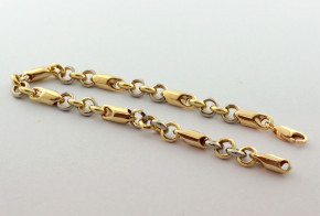 Златна гривна от жълто и бяло златo GR0180
