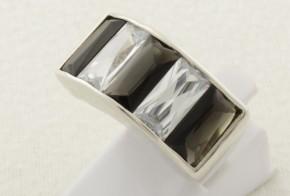 Дамски сребърен пръстен с циркони SD0118