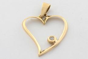 Висулка от жълто  злато с диамант  VE336
