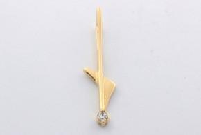 Златна висулка от   жълто злато  с циркони  V0022