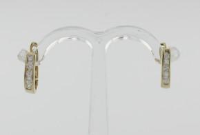 Детски обеци от жълто злато с циркони  OBD0013