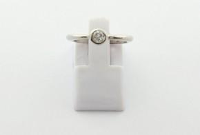 Годежен пръстен от бяло  злато с диамант D3061