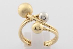 Дамски пръстен от бяло и жълто злато DD0127