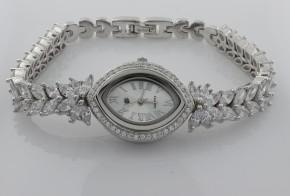 Дамски сребърен часовник с циркони CH0002