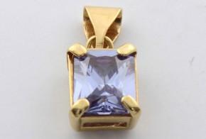Златна висулка от   жълто злато  с циркон V0017
