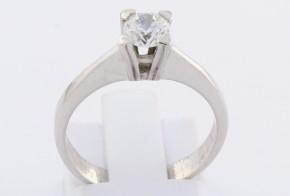 Годежен пръстен от бяло злато с циркон GD0145
